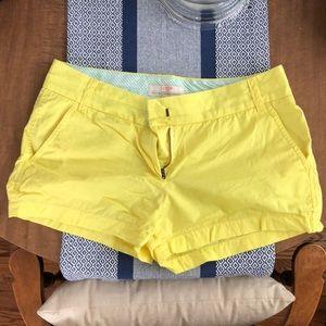 JCrew Shorts Yellow